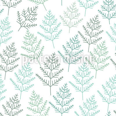 Little Winter Branches Vector Ornament