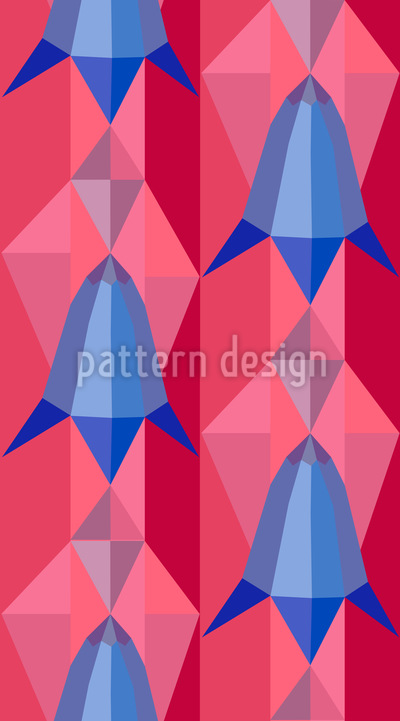 Bluebells Geometry Repeating Pattern
