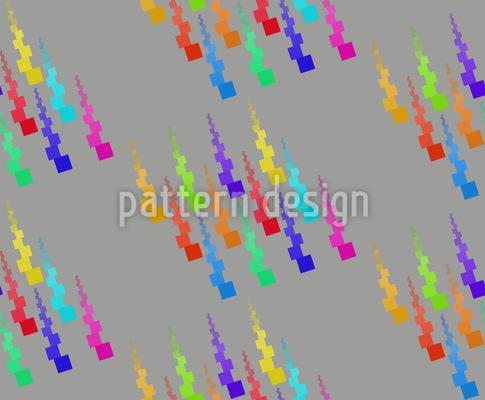 Fröhlicher Pixelregen Designmuster