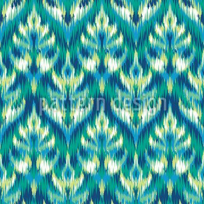 Asia Ikat Damast Muster Design