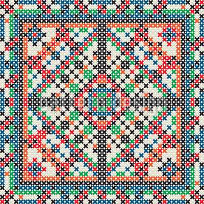 Cross Stitch Vector Design