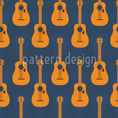 Creole Guitars Pattern Design