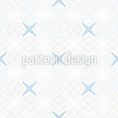 Cross Coordinates Seamless Vector Pattern