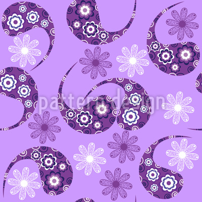 Paisley Meets Flower Repeating Pattern