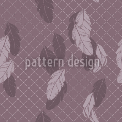 Gentle Feathers Brown Repeating Pattern