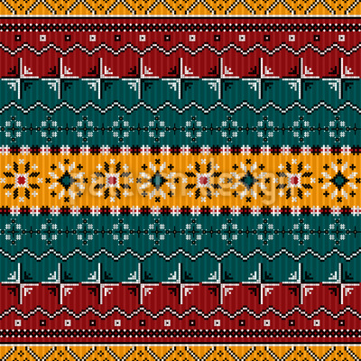 Balkan Bordüren Express Nahtloses Vektor Muster