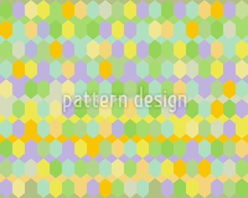 Hexagon Fabrik Vektor Ornament