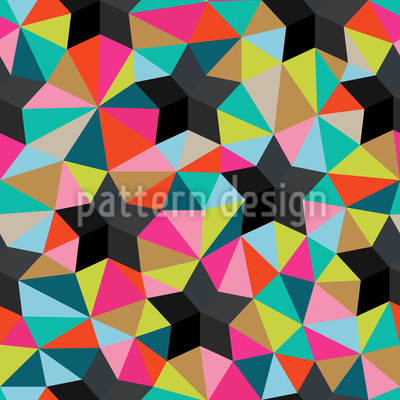 Stars On Colored Glass Vector Pattern