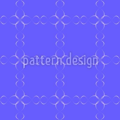 Magische Blumenketten Muster Design