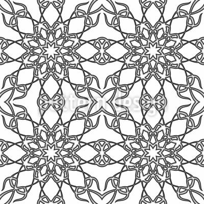 Monochrome Gotik Nahtloses Muster