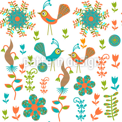 Crazy Bird Paradise Pattern Design