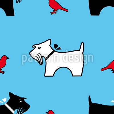 A Terriers Bird Eye View Vector Pattern