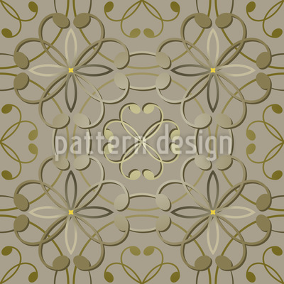 Embossed Flowers Seamless Pattern