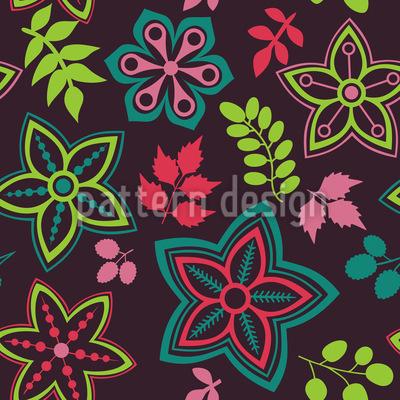 Hinreissender Blumen Mix Musterdesign