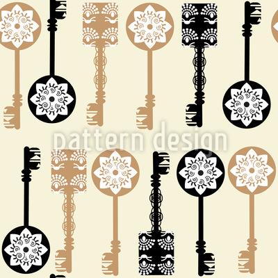 Filigree Keys Repeat Pattern