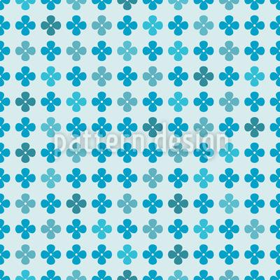 Flora Blues Vector Pattern