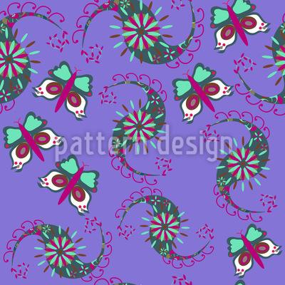 Schmetterlinge Tanzen Rapportiertes Design