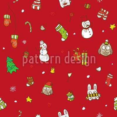 Lustige Weihnachten Nahtloses Vektor Muster