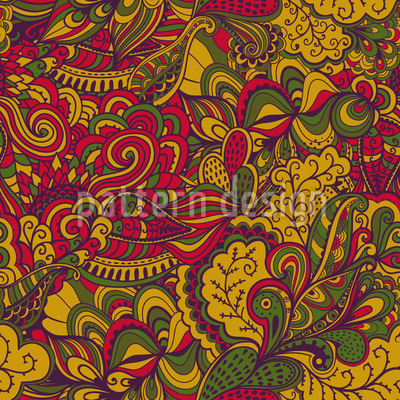 Autumn Fantasies Vector Pattern