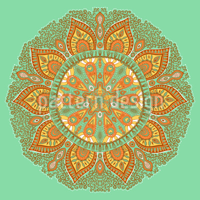 Autumn Mandala Pattern Design