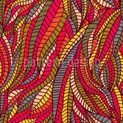 Blatt Expression Nahtloses Muster
