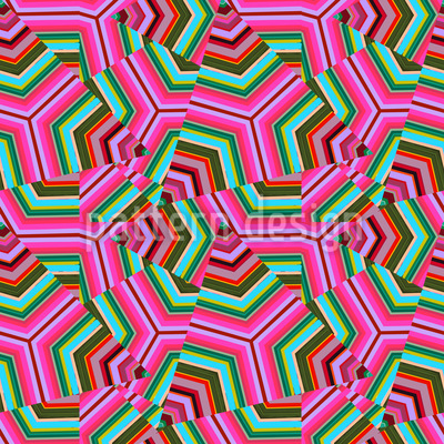 Pop Art Triangles Vector Pattern