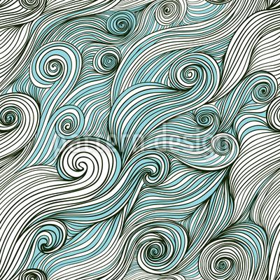God Of The Ocean Pattern Design
