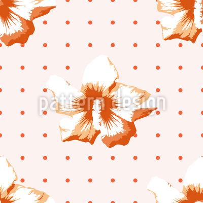 Polkadot Hibiscus Design Pattern