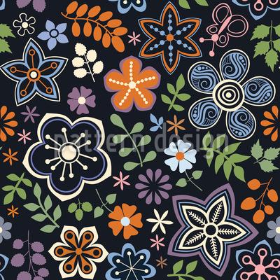 Russian Magic Flowers Vector Design