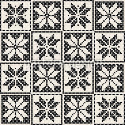Strick Sterne Nahtloses Vektor Muster