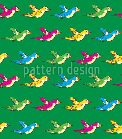 Die Vögel Ziehen Ostwärts Nahtloses Muster