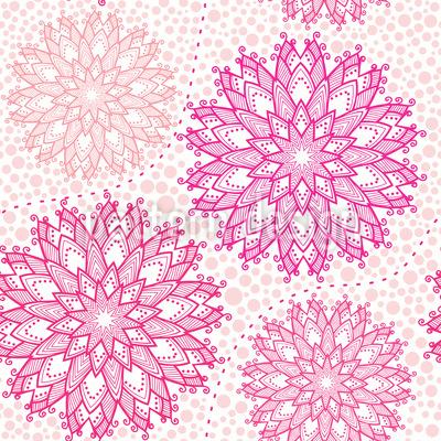 Christmas Stars On Dots Seamless Vector Pattern