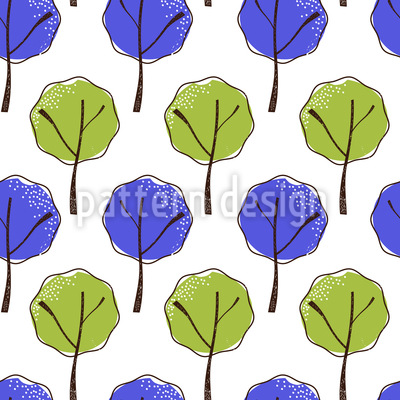 Little Leaf Trees Pattern Design