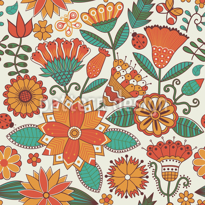 Zauberhafter Blumenherbst Rapportiertes Design