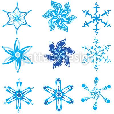 Schneeflocken Sammlung Musterdesign