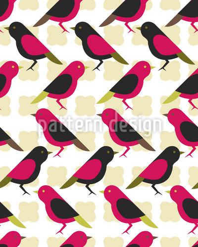 Kanarienvögel Vektor Muster