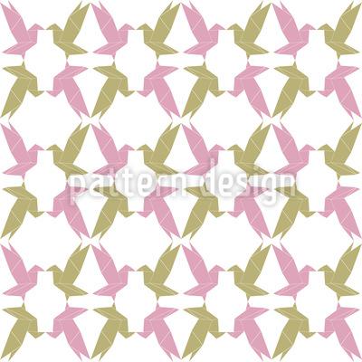 Origami Vögel Rapportmuster