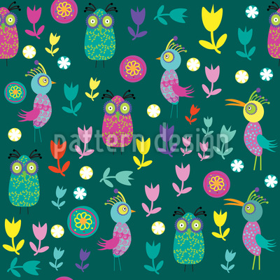 Papageno Im Vogel Paradies Muster Design