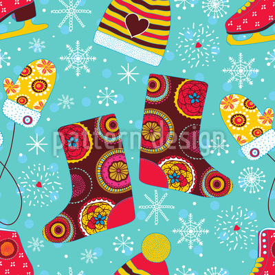 Winter Fun Vector Ornament