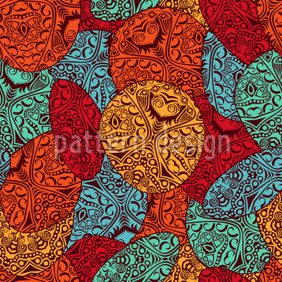 I Love Fabric Remnants Repeat Pattern