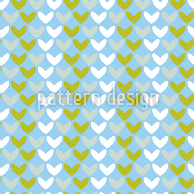 Hearts In Spring Pattern Design