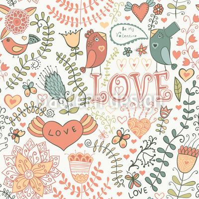Sei Mein Valentinsvögelchen Musterdesign