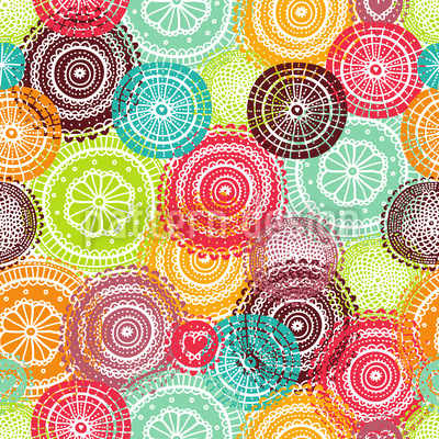 Summer Doilies Vector Ornament