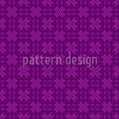 Cross Flowers Seamless Vector Pattern