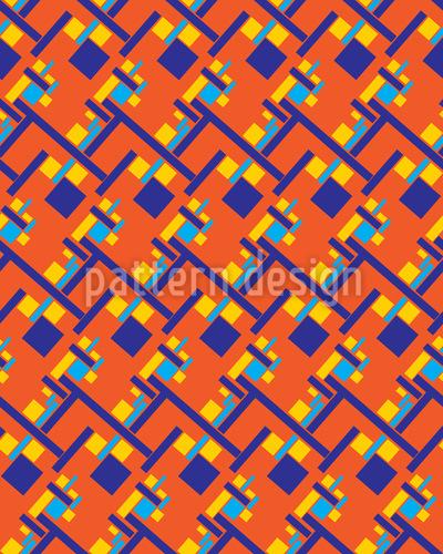Afrikanisches Großraumbüro Vektor Muster