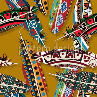 Chieftain Feathers Design Pattern