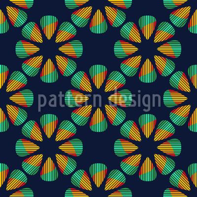 Metal Flowers Seamless Vector Pattern
