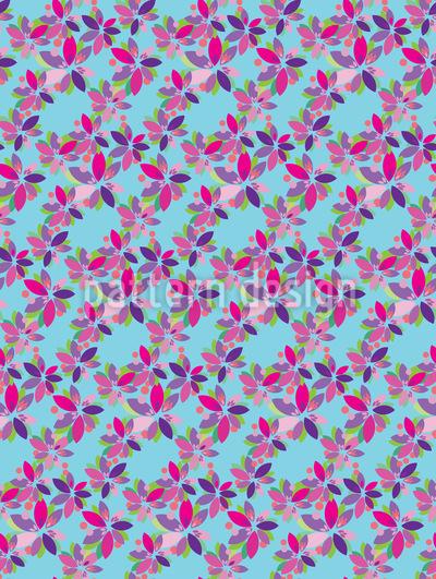 Kleine Blüten Fantasie Rapportiertes Design
