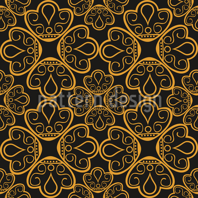 Floral Gold Jewellery Vector Pattern