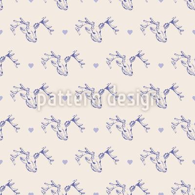 Hirsch Und Herz Muster Design